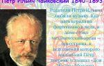 Петр ильич чайковский: биография, интересные факты, творчество