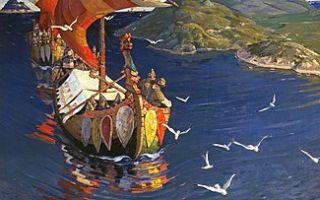 Рерих николай «заморские гости» описание картины, анализ, сочинение