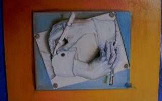 Эшер мауриц «рисующие руки» описание картины, анализ, сочинение