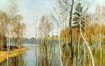 Левитан «весна. большая вода» описание картины, анализ, сочинение