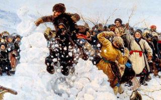 Суриков «взятие снежного городка» описание картины, анализ, сочинение