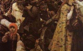 Суриков «утро стрелецкой казни» описание картины, анализ, сочинение