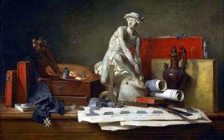 Шарден «атрибуты искусства» описание картины, анализ, сочинение