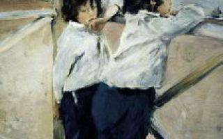 Серов «октябрь. домотканово» описание картины, анализ, сочинение