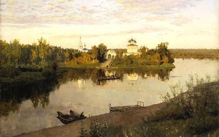 Левитан исаак «вечерний звон» описание картины, анализ, сочинение