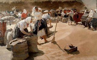 Яблонская татьяна «хлеб» описание картины, анализ, сочинение