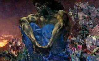 Врубель михаил «демон сидящий» описание картины, анализ, сочинение