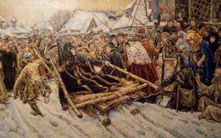 Суриков «боярыня морозова» описание картины, анализ, сочинение