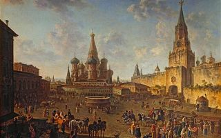Алексеев «красная площадь в москве» описание картины, анализ, сочинение