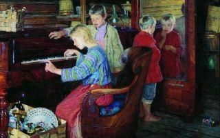 Богданов-бельский «новые хозяева. чаепитие» описание картины, анализ, сочинение