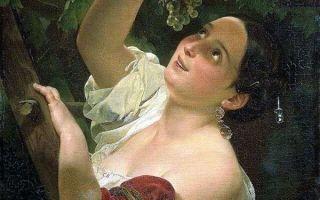 Брюллов карл «итальянский полдень» описание картины, анализ, сочинение