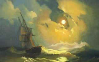 Айвазовский «буря на море ночью» описание картины, анализ, сочинение