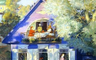 Кустодиев «купчиха и домовой» описание картины, анализ, сочинение