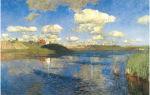 Левитан «озеро. русь» описание картины, анализ, сочинение