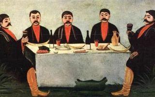 Пиросмани нико «вывеска пивной закатала» описание картины, анализ, сочинение