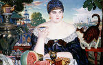 Кустодиев борис «купчихи» описание картины, анализ, сочинение