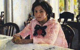 Серов валентин «девочка с персиками» описание картины, анализ, сочинение