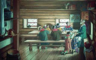 Кустодиев борис «земская школа» описание картины, анализ, сочинение