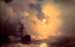 Айвазовский «буря» описание картины, анализ, сочинение