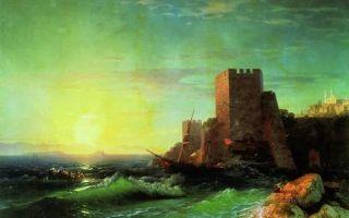 Айвазовский «большой рейд в кронштадте» описание картины, анализ, сочинение